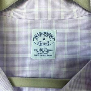 8bdde7dde Brooks Brothers Tops - Brooks Brothers Women's Purple Checked Shirt - Sz4